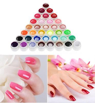 36 Color Nail Art Pigment Set UV Gel Polish Solid Glue Easy to Paint B6D9