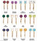 Birthstones Yellow Fashion Earrings