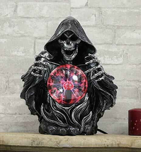 "Ebros 11.25"" H Gothic Alchemy Arch Evil Grim Reaper Electric Plasma Ball"
