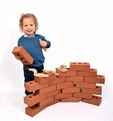 Foam Brick Building Blocks for Kids, Actual Brick size- 50 Pack- Playlearn - Foam Blocks For Kids