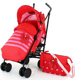 Zeat Voom stroller with cosy toes and changing bag, excellent condition