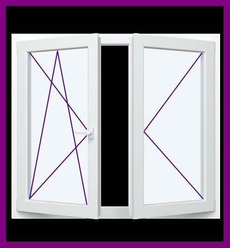 Kunststoffenster 2 Flügel 2 3 Fach Verglast Fenster