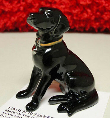 Black Labrador Retriever Figurine - ➸ HAGEN RENAKER Dog Miniature Figurine Labrador Retriever Lab Black