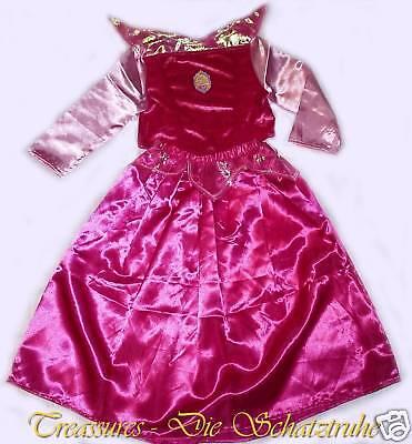 Disney Dornröschen Kostüme (DISNEY DORNRÖSCHEN PRINZESSIN KOSTÜM Rosa Pink 110/116 + 122/128 Kleid Ballkleid)
