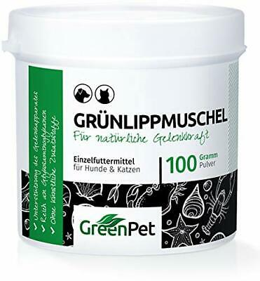 GreenPet Grünlippmuschel-Pulver 100g - Naturprodukt für Hunde und Katzen, Gel