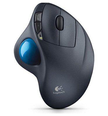 Wireless Mouse Cordless Track Ball Pc Mac Logitech Trackball Ergonomic Computer