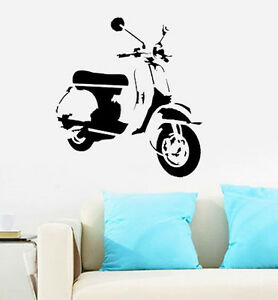 Vespa scooter plantilla reutilizable decoraci n de pared for Vespa decoracion