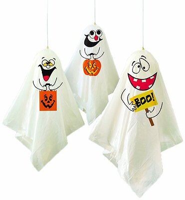 Spooky Halloween Decorating Ideas (*New* Halloween Party Ideas Pack of 3 Hanging Spooky Ghost)