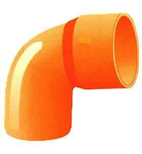 N 2 gomito curva chiusa tubi e raccordi pvc colore arancio for Raccordi per tubi scaldabagno