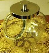 Clear Glass Cookie Jar