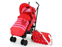 Zeta zoom stroller with raincover, changing bag and cosy toes. CAN DELIVER