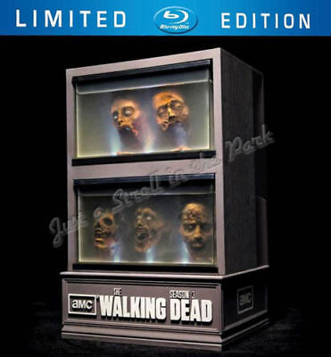 The Walking Dead Limited Edition Collectible Zombie Head Fish Tank+Bonus Blu-Ray