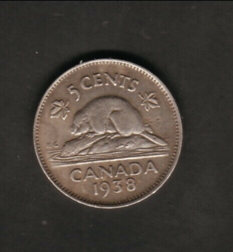 Canada--1938--5 Cents--King George VI/Beaver