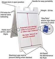 Hard Foldable Plastic Signs for advertising for sale x1