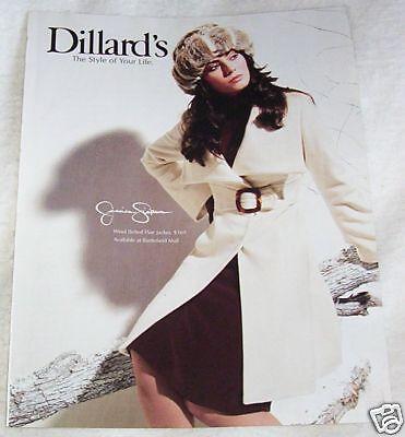 2007 print ad - JESSICA SIMPSON Dillard's coat & fur hat 1-PAGE Advertising
