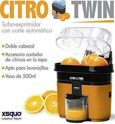 Turbo Exprimidor De Doble Cabezal con Función Corte 90W Vaso 500ml Filtro...
