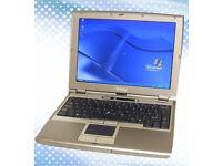 DELL LATITUDE D400 LAPTOP.WINDOWS XP WIRELESS. MS OFFICE