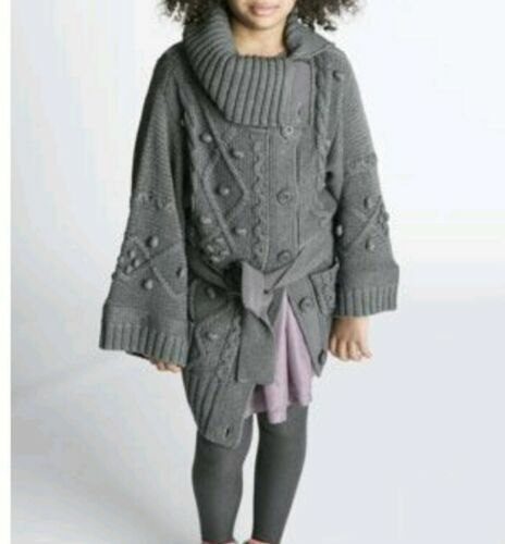 Stella McCartney for Baby Gap Girls Gray Chunky Cable Knit Sweater Toddler 2T