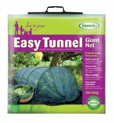 Set of 3 Haxnicks Giant Easy Net Grow Tunnels Garden Plant Protection - 3m Long