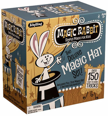 Kids Magic Hat - Deluxe MAGIC HAT 150 Trick Set Show Dice Wand Rabbit Card Beginner Kit Kids