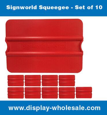 Signworld Vinyl Squeegee Auto Decals Stickers Wrap Window Tint - Set Of 10