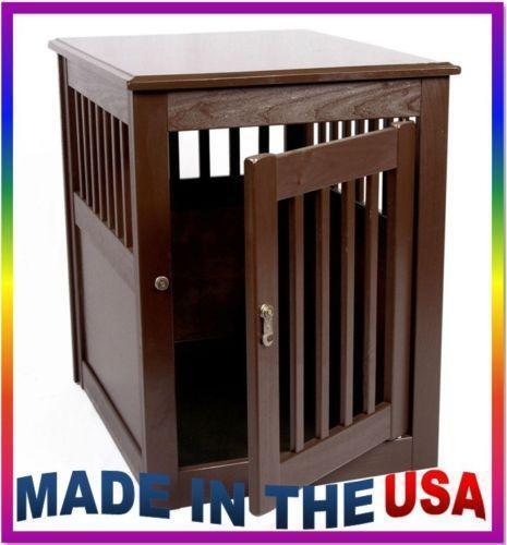 Wood Dog Crate
