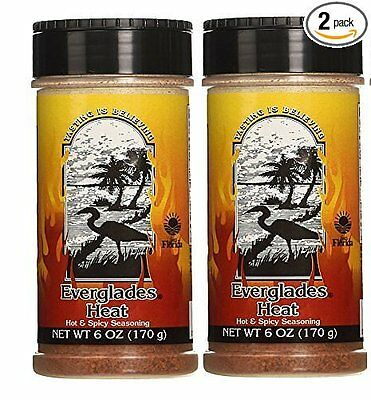 Everglades Seasonings Hot & Spicy Heat 2 Pack 6oz BBQ Rub Spices  for sale  Sebring
