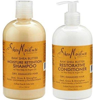 Shea Moisture Raw Shea Butter Restorative Shampoo Conditioner Dry Damaged -