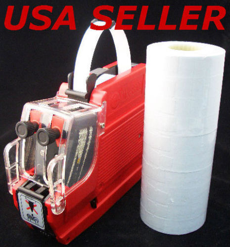 New MX-6600 2 Line Price Label Gun with 20 Rolls Labels