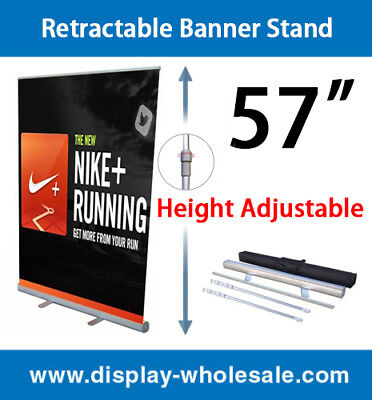57 Retractable Roll Up Banner Stand Pop Up Trade Show Display