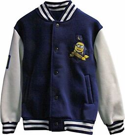 Despicable Me Minions Official Boys Baseball Jacket Assorted Sizes 2 - 9 yrs