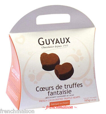 Guyaux FRENCH Food Gourmet Dark Chocolate TRUFFLES HEART Box Gift Set New (Dark Chocolate Truffles)