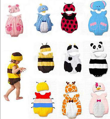 Baby Boy Girl Bee Ladybird Animal Costume Fancy Dress Romper Outfit Summer 6-18m - Bee Baby Costume