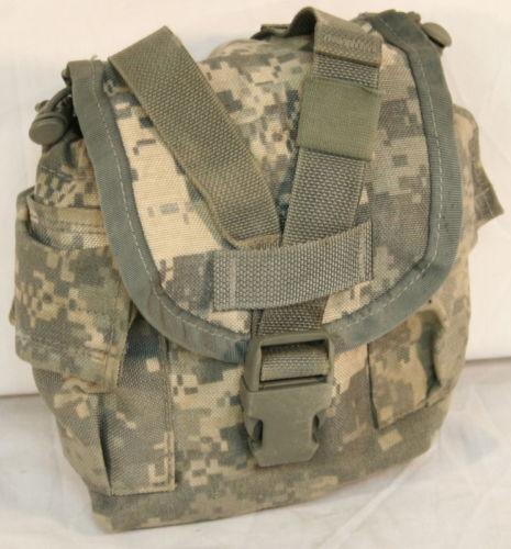USGI MOLLE 1 QT ACU Canteen General Purpose - Dump Pouch - 8465-01-525-0585 GC