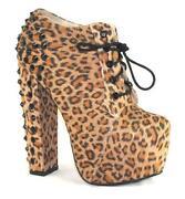 Womens Leopard Print Boots