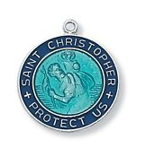Sterling Enamel ST. Christopher Medal