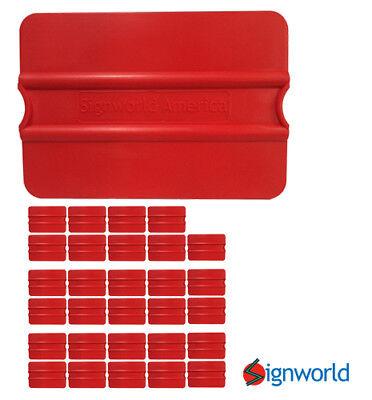 Signworld Vinyl Squeegee Auto Decals Stickers Wrap Window Tint - Set Of 30