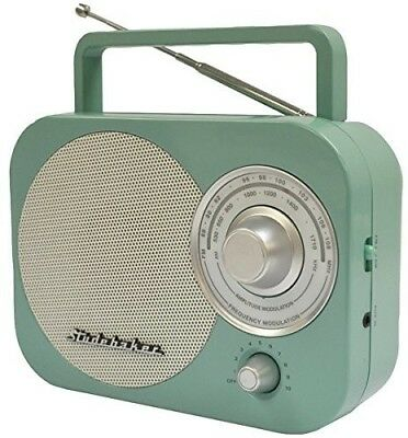 New Retro Portable AM/FM Receiver Radio Teal Studebaker Digi