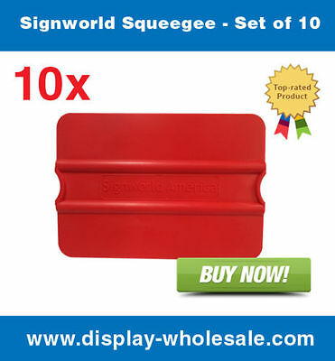 Signworld Squeegee - Set Of 10 Vinylmedia Rolls Window Tinting Application
