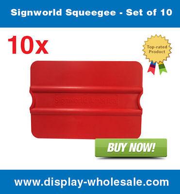 Signworld Squeegee - Set Of 10 Vinylmedia Rolls Window Tinting Application