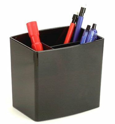 Oic Large Pencil Cup - 4.5 X 5 X 3.8 - Plastic - 1 Each - Black Oic22292