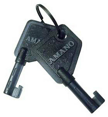 Amano Time Clock Key Ajr-201150 Set Of 2 Keys For Most Pix And Tcx Models
