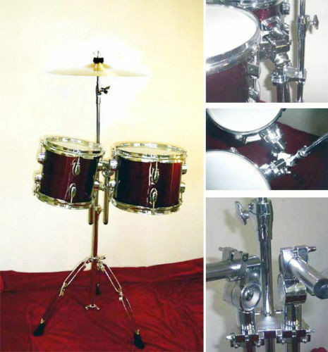 "NEW WINE RED 8""&10"" STANDARD RACK TOMS W/HARDWARE.FREE.."