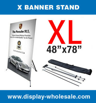 X Banner Stand Tripod Trade Show Display Large 48 X 78 Travel Bag