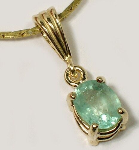 Gold Emerald Pendant 1ct Antique 19thC King Arthur Holy Grail Charlemagne 14kt