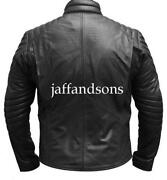 Mens Leather Jacket 4XL