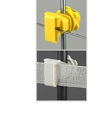 Electric Poly Tape Rope Braid Fence Insulators For Sucker Fiberglass Rods 100pk