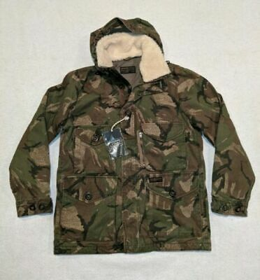 NWT Abercrombie Fitch Removable Sherpa Military Combat Insulated Camo Jacket L