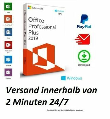 ✔️MS®Office PRO  2019 Professional Plus✔️ 1 PC ✔️Window🔑 10✅DE HANDLER✅