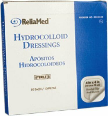 Reliamed Sterile Latex-free Hydrocolloid Dressing With Film Back And Beveled